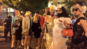 DC Drag Queens Parade Down 17th Street for High Heel Race