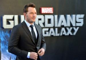 "Chris Pratt Visits Children's Hospital in ""Guardians of the Galaxy"" Costume"