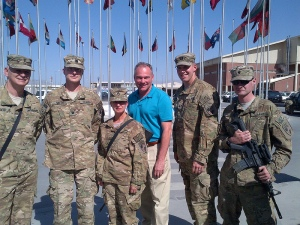 Va. Sen. Kaine Visits Troops in Afghanistan