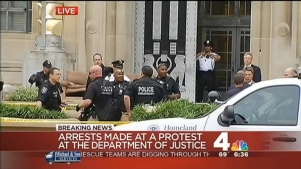 Protest at Department of Justice
