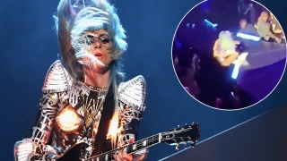 [NATL] Lady Gaga Plummets Off Stage in Fan's Arms at Vegas Show