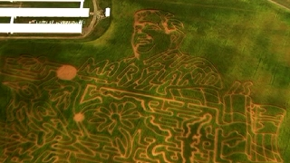 Corn Maze Honors Gov. Hogan in Maryland