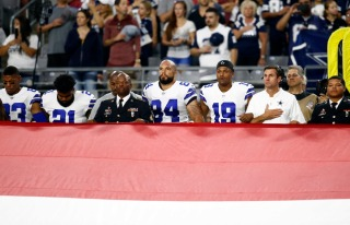 NFL Players Protest During National Anthem After Trump's Criticism