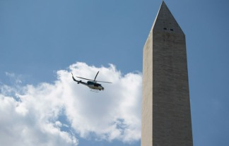 Engineers Inspect Washington Monument