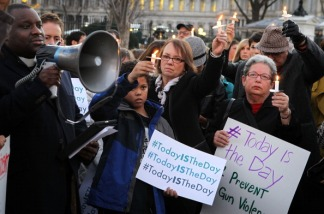 Gun Control Advocates Hold Sandy Hook Vigil at White House