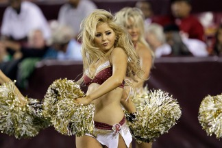 Images From Redskins-Bucs Game