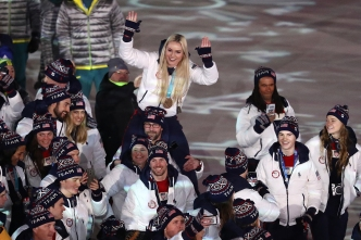 Vonn's Pics Capture Olympic Spirit at Closing Ceremony