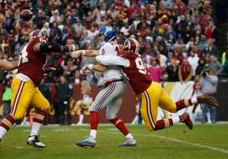 Redskins Hold On to Beat Giants, 20-14