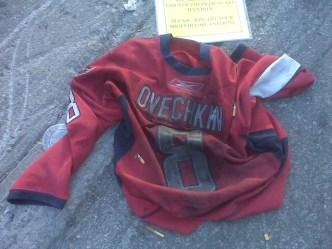 Canadiens Fans Use Ovie as Doormat