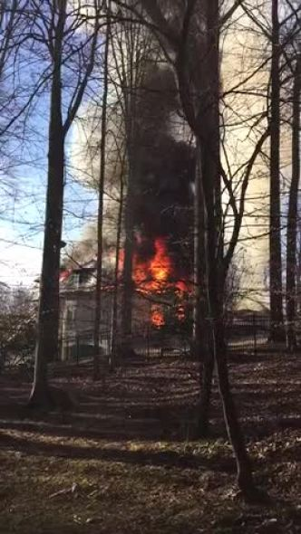 Fire at McLean Mansion
