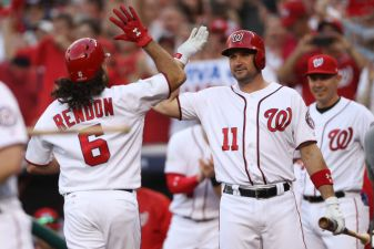 Nats Rally With 2 Homers in 8th Inning to Even Series