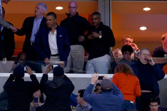 Obama Attends NCAA Game at Verizon Center, Meets RGIII
