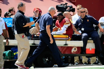 RGIII Leaves Game With Dislocated Ankle