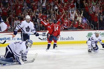 Williams OT Hero as Caps Beat Leafs in Game 5