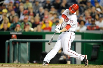 Harper Hits First Homer, Takes Curtain Call