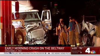 Police Searching for Person Who Left Scene of Beltway Crash