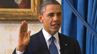Obama Officially Sworn in at White House
