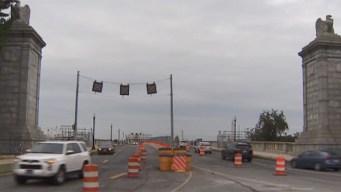 It Begins: Memorial Bridge Lanes Drop From 6 to 3
