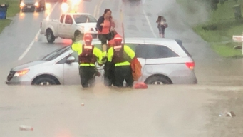 Historic Flash Flood Hits DC, Stranding Cars in High Water