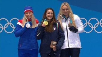 Medal Ceremony: Vonn Is Oldest Female Alpine Medalist