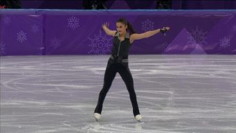 Skater Performs to AC/DC in Short Program