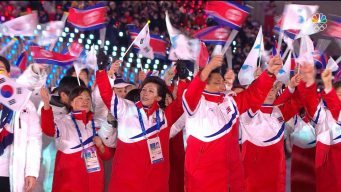 Watch as United Korea Enters the Closing Ceremony