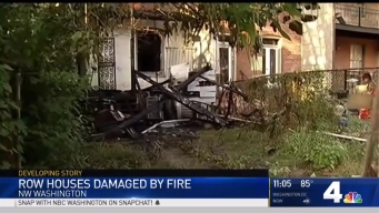 2 Firefighters Injured in Fire That Damaged 2 Homes in DC