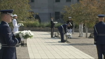 Wreaths Placed at Pentagon Memorial