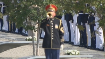 Taps Played at Pentagon Memorial