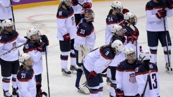 Silver-Medal Winning U.S. Women's Hockey Team Leans on Each Other After Disappointing Loss