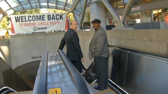 Metro Cuts Ribbon on New Dupont Circle Escalators