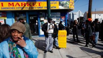 Fans Kept From Funeral Mourn Houston in NJ Streets