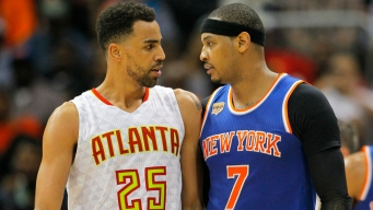 Carmelo Anthony Ejected After Hitting Hawks' Thabo Sefolosha