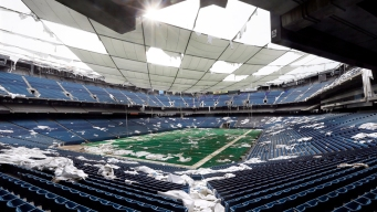 Watch: Blasts Fail to Bring Down Upper Section of Silverdome