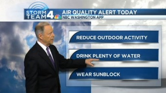 Hot and Humid Saturday; Code Orange Air Alert in Effect