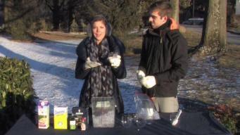 Amelia Draper Makes Ice Cream Outside in the Bitter Cold