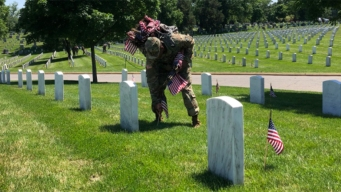 Soldiers Place 230K US Flags at Arlington National Cemetery