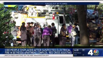 Bethesda Fire Displaces More Than 1,000 Residents