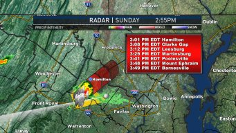 Severe Thunderstorm Warning for Parts of Virginia