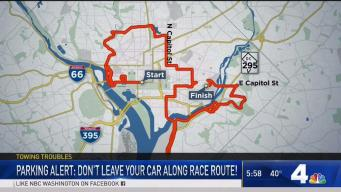 Cars to Be Towed Along DC Marathon Route