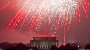 National Mall Fireworks Go On Despite Earlier Rain