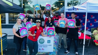 News4 Collects Backpacks 4 Kids in Riverdale Park