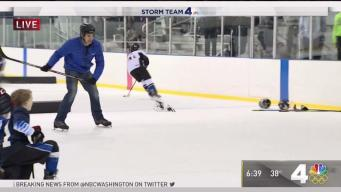 Doug Kammerer Tries Hockey, Wipes Out