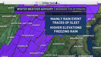 Cold Rain Sunday; Winter Weather Advisory for Some