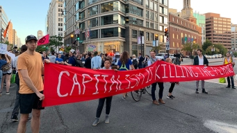Climate Activists Blocked Streets Near Banks, Trump Hotel