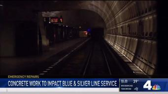 Repairs to Affect Blue, Silver Lines This Weekend