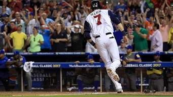 Marlins Outfielder Scores Game-Winner for USA at World Baseball Classic