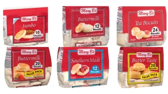 Recall Issued in 23 States for Mary B's Frozen Biscuits