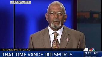 Jim Vance as Sports Anchor