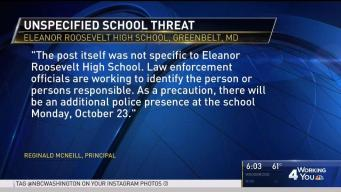 Md. High School Steps Up Security After Social Media Threat